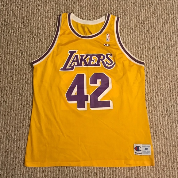 sale retailer 7c080 fc6df James Worthy Los Angeles Lakers Champion Jersey